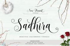 Sadhira - Calligraphy Typeface by Barland on @creativemarket