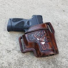 On Duty Conceal RH LH OWB Leather Gun Holster For Taurus PT111 G2