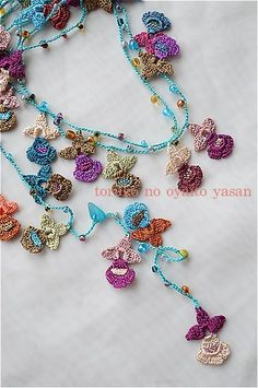 oya crochet lariat necklace
