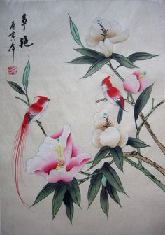 Chinese Drawings, Chinese Art, Japanese Bird, Japanese Painting, Asian Art, Tattoo Inspiration, Rooster, Birds, Paintings