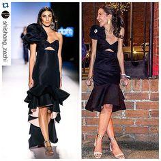 From runway to the fashion life. @johannaortizofficial @kellytalamas #dress #gown #black #look #outfit #colombia #colombiamoda #streetstyle #editor #Fashion #Style #Luxury #latin #latinamerica #runway #SZReport #ruffles #johannaortiz #instagood #instafashion #womenstyle #womenswear #womensfashion #Vogue #Shishang_Zazhi #mujer #globalfashion #jewelry #negro