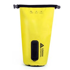 Canoe Storage ** Leader Accessories New Heavy Duty Vinyl Yellow Waterproof Dry Bag for Boating Kayaking Fishing Rafting Swimming Floating and Camping >>> Details could be found by clicking on the picture. (This is an affiliate link). Canoe And Kayak, Kayak Fishing, Canoe Storage, Rafting, Kayaking, Swimming, Boat, Yellow, Link