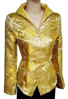 Silk Oriental Chinese Jacket Coat Blouse Plus Size TL39