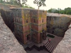 weird and wonderful places to see before you die: Underground Church, Lalibela, Ethiopia. Ancient Ruins, Ancient History, Madagascar Antananarivo, Monuments, Wonderful Places, Beautiful Places, Lovely Things, Places Around The World, Around The Worlds