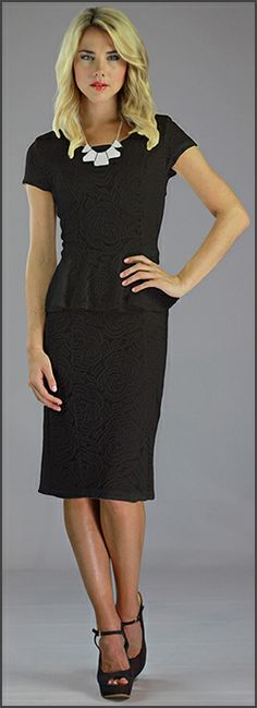 Girl With Curves: Little Black Peplum Dress- perfect for a summer ...