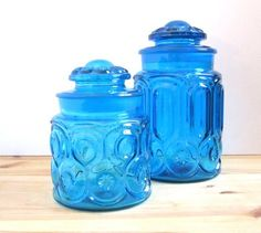Would love some Vintage Glass Canisters like these for our new bathroom