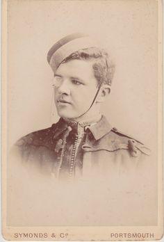 1889 Original Victorian Cabinet Photo of Monocled Soldier Named John Hardcastle