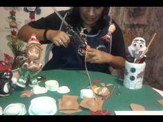 PUPAZZO DI NEVE IN GOMMA CREPLA O FOAMY (muñeco de nieve en foamy) - YouTube