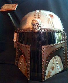 Steampunk Storm Trooper And Boba Fett Star Wars Helmets