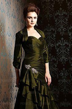 Green Taffeta 3/4 Length Sleeves Wrap [WWCJ0171]- AU$ 54.56 - DressesMallAU.com