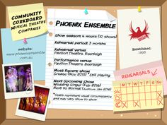 Phoenix Ensemble - Community Corkboard interview on amywinner.com The Wedding Singer, Watch This Space, Musical Theatre, Manners, Phoenix, Musicals, Interview, How To Apply, Community