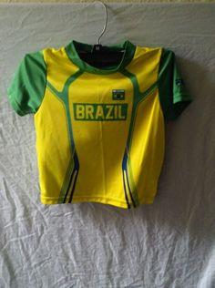 Fils Toddler Baby T Shirt Size 3T Futbol Brazil Team Soccer Jersey  #Fils #BrazilSoccerTeam #BrazilSoccerKidsJersey