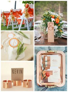 Persimmon And Copper Color Inspiration For Your Fall Wedding -Beau-coup Blog
