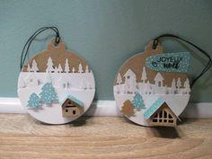 Voici d'autres petites créations pour ce fameux marché de Noël... je me suis amusée à