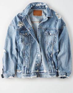 AE Boyfriend Denim Jacket jacket American Eagle Outfitters Men's & Women'… – vashabi Cute Jackets, Jackets For Women, Clothes For Women, Denim Jackets, Womens Jean Jackets, Casual Outfits, Cute Outfits, Fashion Outfits, Fashion Shirts