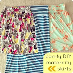 comfy DIY maternity skirts