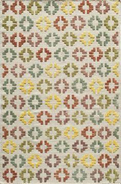 Love the playful colors on this geometric Bohemian-style rug | Momeni Boho BO-05 Rug