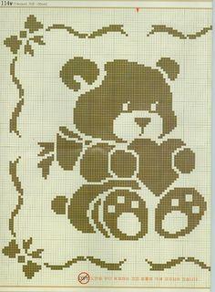 Kira scheme crochet: Scheme crochet no. Filet Crochet Charts, Knitting Charts, Baby Knitting, Knitting Patterns, Crochet Patterns, Cross Stitch Baby, Cross Stitch Animals, Cross Stitch Patterns, Baby Blanket Crochet