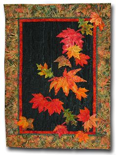 Fall Leaves Applique Wall Hanging