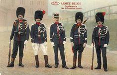 Tenues diverses de la gendarmerie belge en 1914.