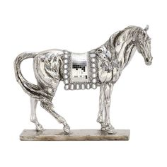 Attractive Ps Mosaic Silver Horse (Dcor), Black (Acacia)