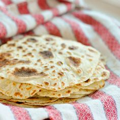 Norwegian Potato Lefse ... is a humble sort of flatbread, made as it is from leftover mashed potatoes. Work in a little flour, roll it out flat, and cook it on the stovetop for dinner! This makes a thin and soft flatbread that's more substantial than a crêpe but more delicate and chewy than a flour tortilla.