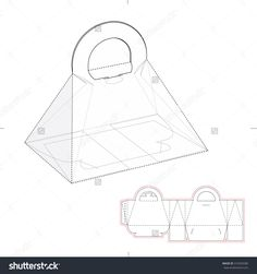 Pyramid Carrying Box With Die Line Template Stock Vector Illustration 310303580 : Shutterstock