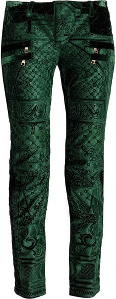 I think these are fabulous!!! - Velvet Brocade Skinny Jeans - Lyst
