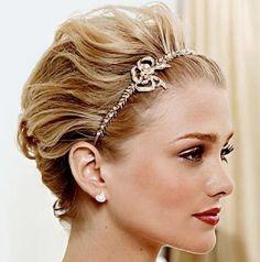 headband for short wedding hair