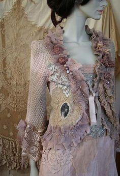 RESERVED little baroque jacket no3 romantic by FleursBoheme
