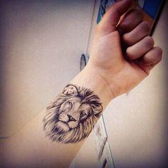 Tattoo of lion