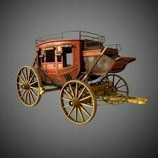 Stagecoach by CrackRockSteady Horse Drawn Wagon, Making Wooden Toys, Old Wagons, Ranch Decor, Horse And Buggy, Covered Wagon, Gypsy Wagon, Horse Carriage, Model Ships
