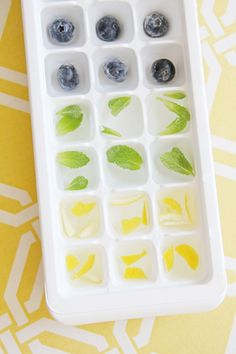 Flavoured ice cubes recipe - Style At Home