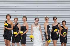 black and yellow wedding @Yumi Phillips @Jess Abalahin @Laura Villaflor