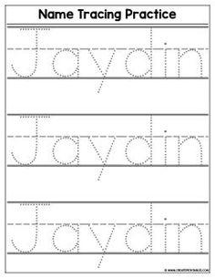 Name Tracing Templates, Printable Name Tracing, Abc Tracing, Alphabet Tracing Worksheets, Tracing Letters, Preschool Worksheets, Tracing Names, Number Tracing, Preschool Printables