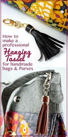 Emmaline Bags: Sewing Patterns and Purse Supplies: How to Make a Tassel: An Easy Bag Making Tutorial