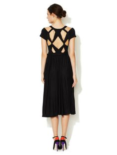 Keely Black Cut-Out Wrap Dress by Marc Marc Jacobs at Gilt