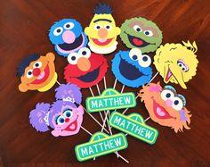 Girly Sesame Street Birthday Party Door Sign by DesignsByDodi