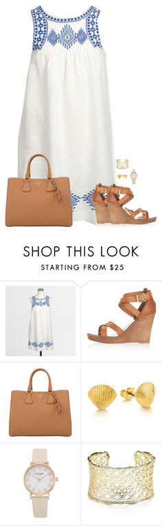 """Summer Breeze"" by sc-prep-girl ❤ liked on Polyvore featuring J.Crew, Topshop, Prada, Kate Spade and Kendra Scott"