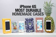 Most Durable iPhone 6S Cases Drop Test - Homemade Edition #* #BestiPhone6SCase #BestiPhone6SCases #EverythingApplePro #iPhone #TopiPhone6SCases #video Top 6 Homemade iPhone 6S Cases Drop Test From 50 FEET. Brick, Pineapple, Nokia 3310, Duct Tape & More. Best & Worst. ...