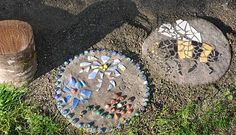 cement stepping stones or decorations - must do this