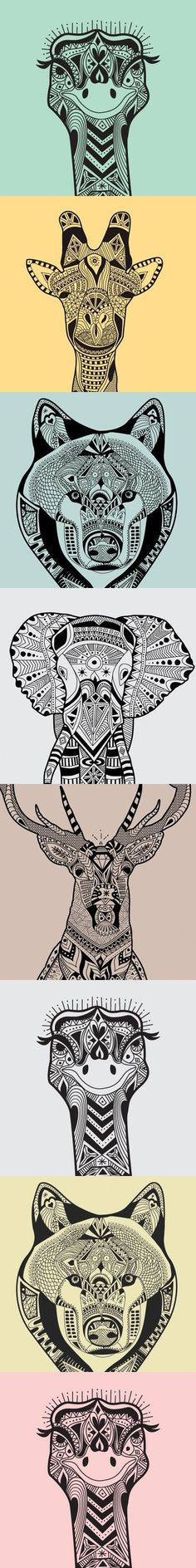 wild animals zentangle patterns - Zentangle - More doodle ideas - Zentangle - doodle - doodling - zentangle patterns. zentangle inspired - #zentangle #doodling #zentanglepatterns