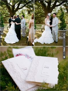 Don't forget about the vows. Pretty Stationery designed just for your vows. Love it. | VIA #WEDDINGPINS.NET