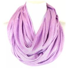 "B45 Metallic Lurex Glitter Purple Infinity Scarf Metallic Lurex Infinity Scarf.   ‼️️PRICE FIRM UNLESS BUNDLED‼️   Photos do not do justice to this scarf (probably my poor photography skills).  It is really gorgeous & versatile.  Purple with metallic threading. 100% viscose. 25"" wide, 33"" long.  Please check my closet for many more items!!! Boutique Accessories Scarves & Wraps"