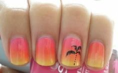 Love the sunset look, along with the palm trees!!(: