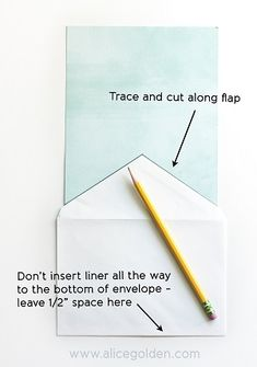 Making envelope liners
