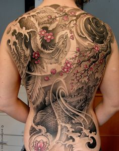 Another tattoo with just the right amount of color worked into black and gray