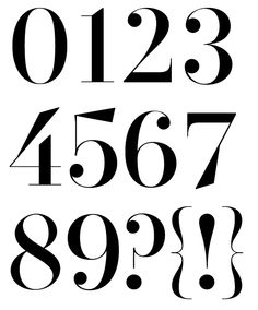 Numerals from WTF Di typeface. WTF?Magazine.