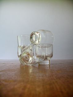 "Five Mid Century Eva Zeisel Federal Glasses ""Stockholm"" by luola on Etsy https://www.etsy.com/listing/204531227/five-mid-century-eva-zeisel-federal"