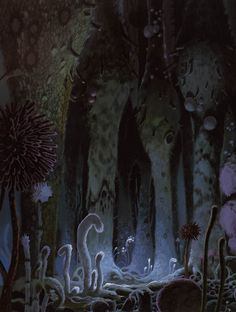 Nausicaä of the Valley of the Wind (1984) - Background Design